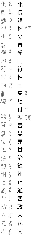 kanji test row 18