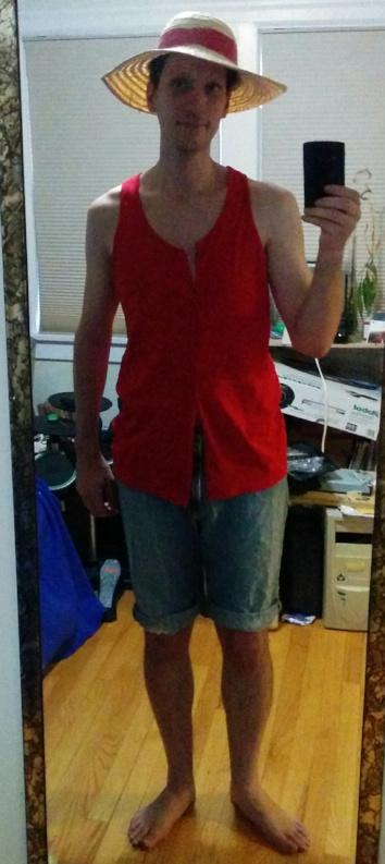 Javantea in Luffy cosplay