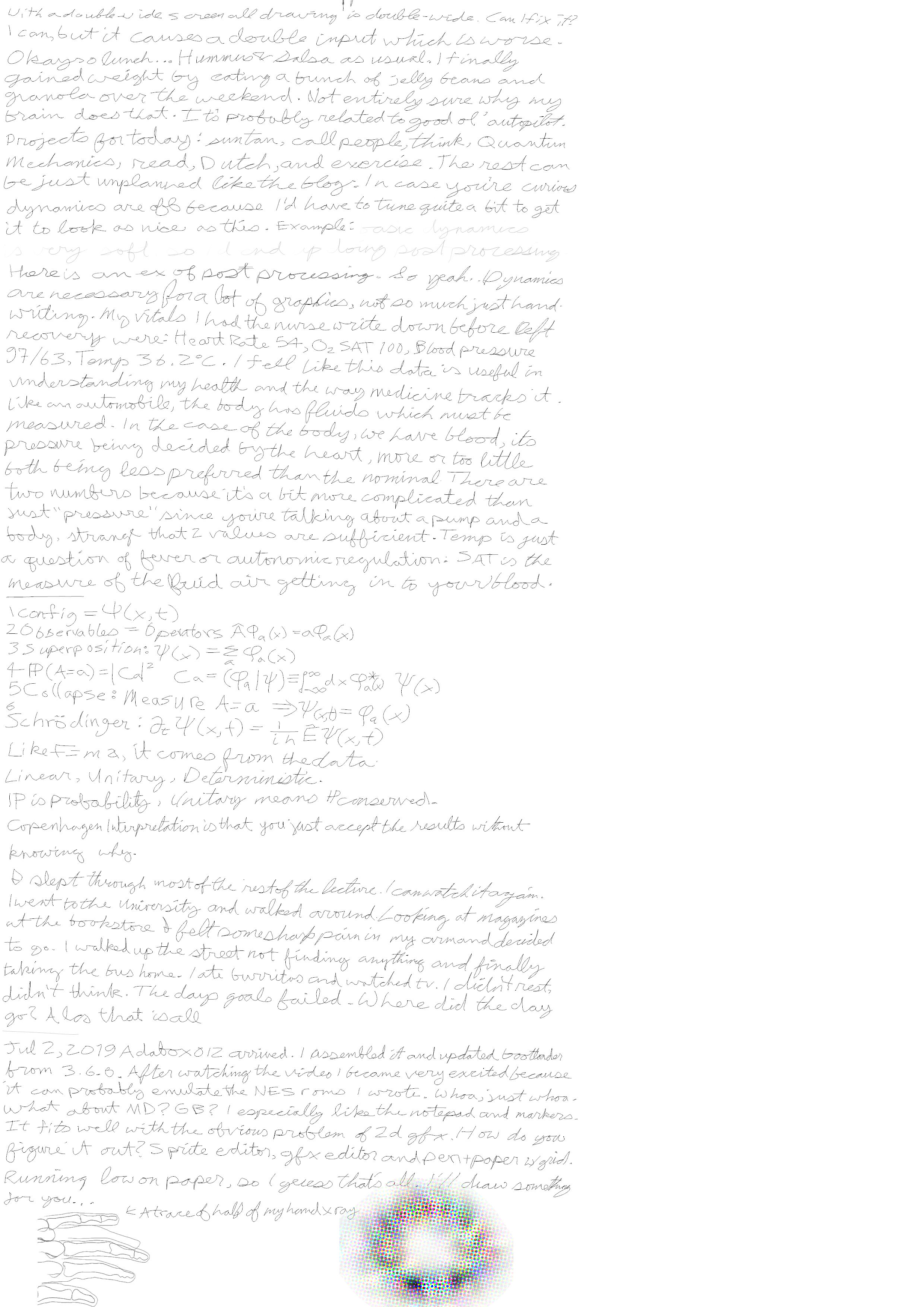 Javantea's handwritten blog