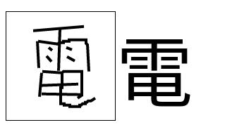Den 電 Kanji